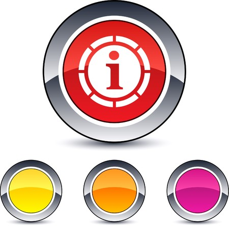 Information glossy round web buttons. Stock Vector - 7076474