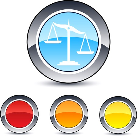 Balance glossy round web buttons.  Vector