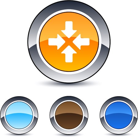 Click here glossy round web buttons.  Stock Vector - 7104327