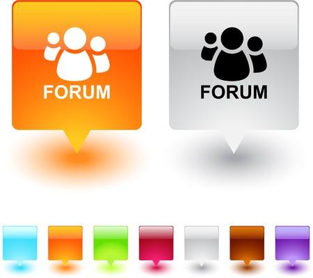 Forum web carré brillant boutons.