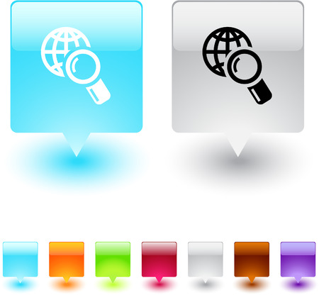 Add to cart glossy square web buttons. Stock Vector - 7138558