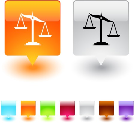 unbalanced: Balance glossy square web buttons.