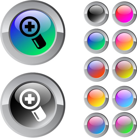 Add multicolor glossy round web buttons. Stock Vector - 7273134