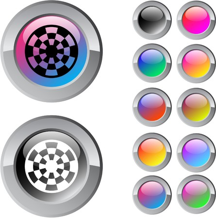 Target multicolor glossy round web buttons. Stock Vector - 7276862