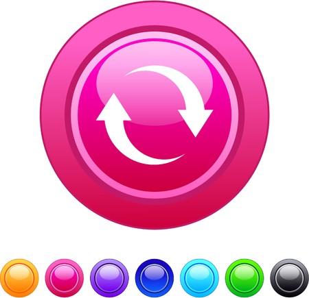 opfrissen: Vernieuwen glanzende cirkel knoppen voor het web.