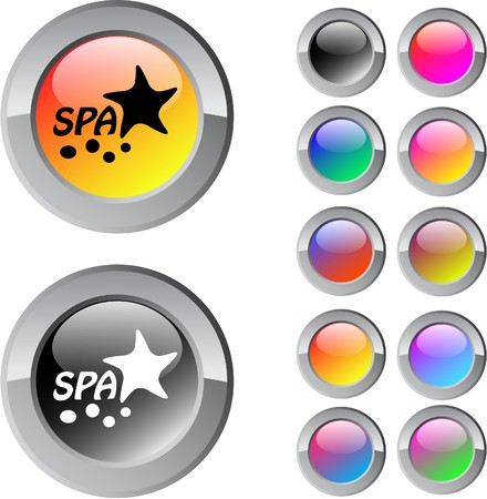seastar: Spa multicolor glossy round web buttons.