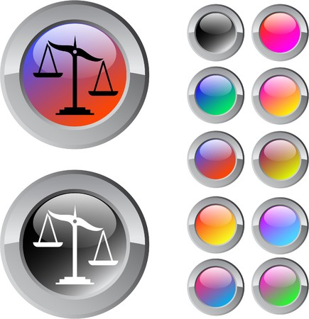 Balance multicolor glossy round web buttons.    Vector