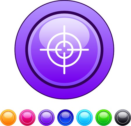 gun sight: Sight glossy circle web buttons.  Illustration