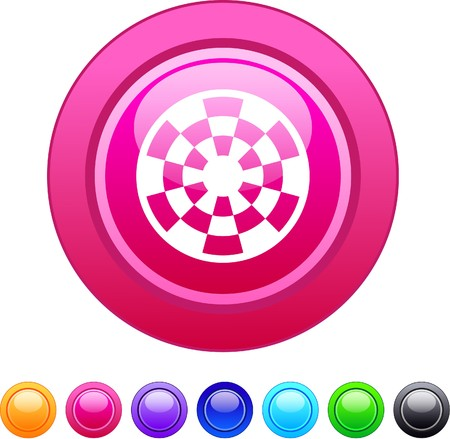 Target glossy circle web buttons. Stock Vector - 7361622