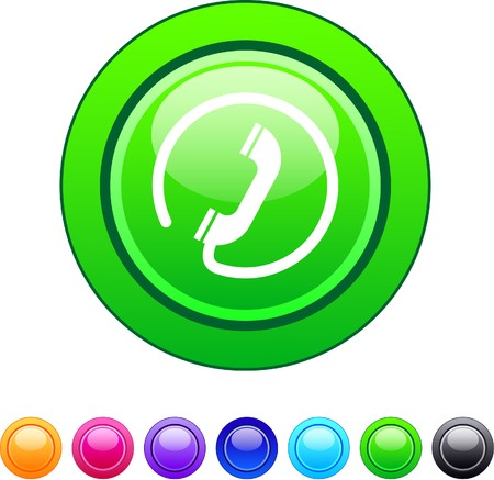 Call glossy circle web buttons. Stock Vector - 7361615