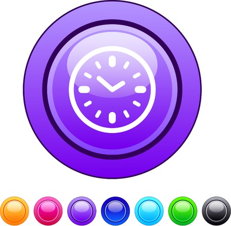 Time glossy circle web buttons. Vector