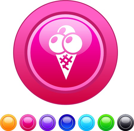 icecream glossy circle web buttons.  Vector