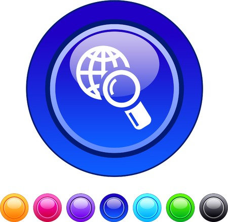 Global search glossy circle web buttons.  Vector