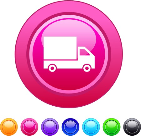 Delivery glossy circle web buttons.   Vector
