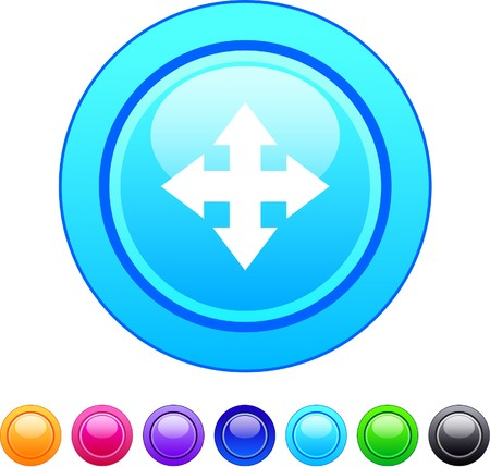 Map glossy circle web buttons.  Vector