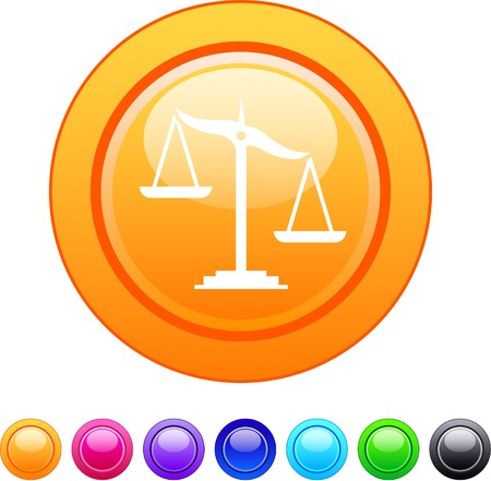 scale of justice: Balance glossy circle web buttons.