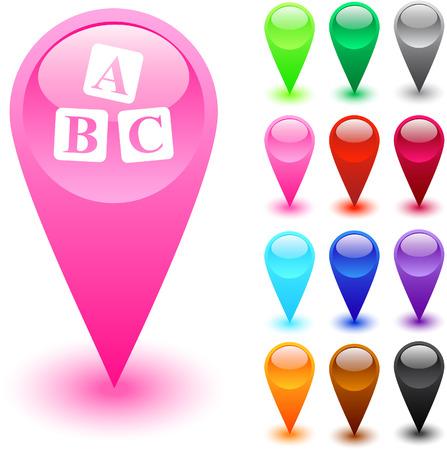 FAQ glossy web buttons. Stock Vector - 7375450