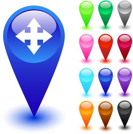 Mapper des boutons web brillant.