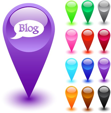 Blog web brillant boutons.