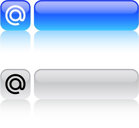 At glossy square web buttons.  Vector