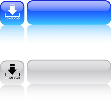 Download glossy square web buttons.