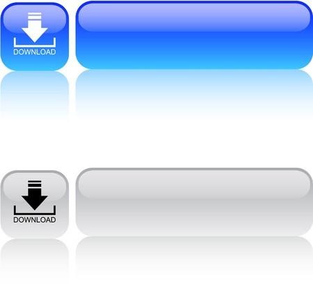 Download glossy vierkante web knoppen.