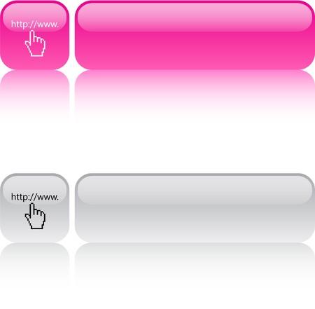 Www, cliquez sur les boutons web carr� brillant.