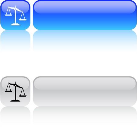 judgement: Balance glossy square web buttons.