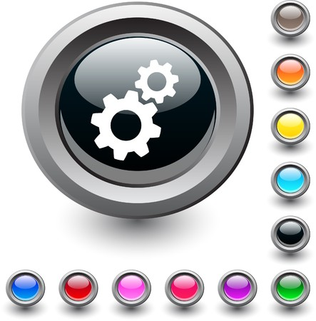 Tools metallic vibrant round icon.