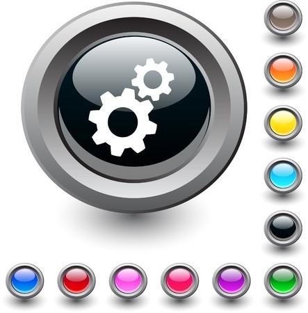Tools  metallic vibrant round icon.  Stock Vector - 7517880