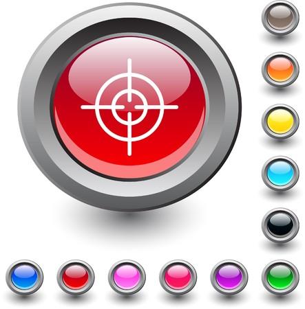 Sight  metallic vibrant round icon. Stock Vector - 7531673