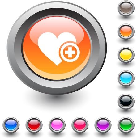 Add to vavorite   metallic vibrant round icon. Stock Vector - 7531701