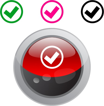 Mark color metallic vibrant round icon. Stock Vector - 8484451