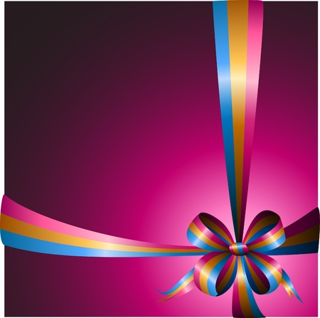 magenta: multicolored ribbon on a bright background
