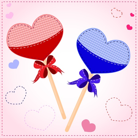 Gift hearts for Valentines Day Vector
