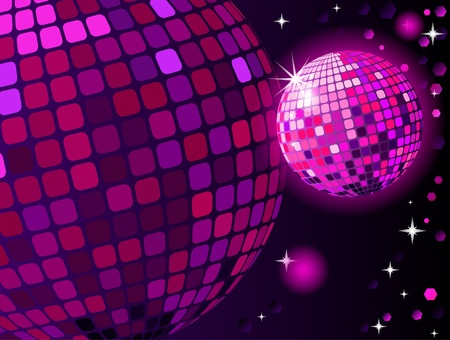 Celebratory disco ball background Vector