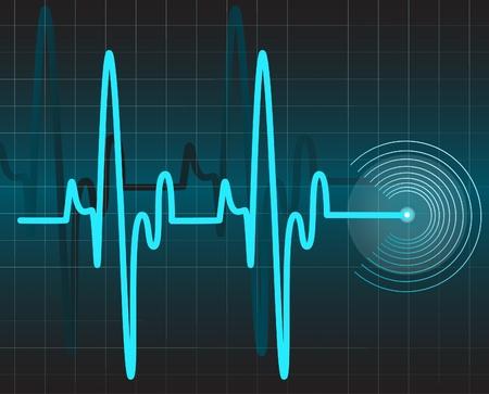 elettrocardiogramma:  Elettrocardiogramma Vettoriali