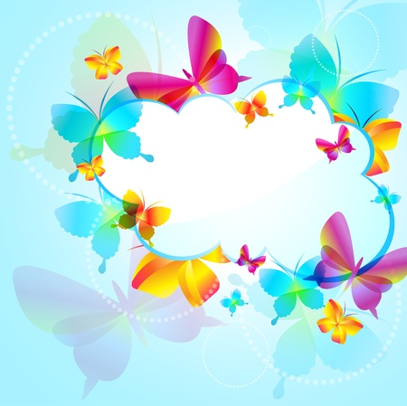 Colorful background with butterfly Stock Vector - 8897702
