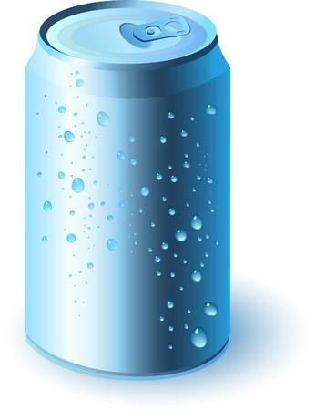 cola canette: Bleue boisson peut  Illustration