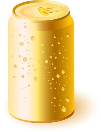Gold drink can  Vector