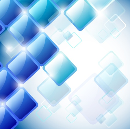 Abstract background of blue squares.   Vector
