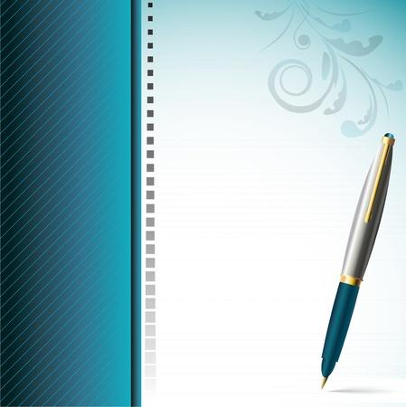 elegantly: Stylish pen and  elegantly decorated page