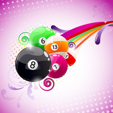 snooker balls: Beautiful colorful background with billiard balls