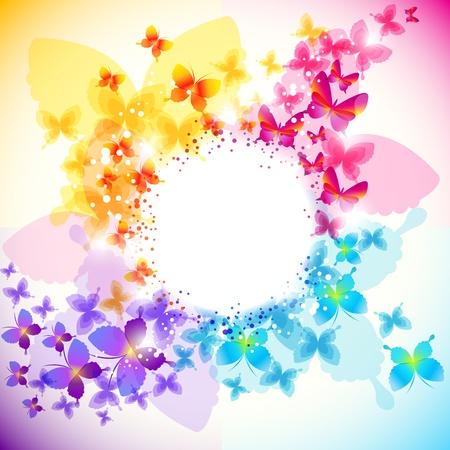 mariposas amarillas: Fondo de mariposa elegante con espacio para texto