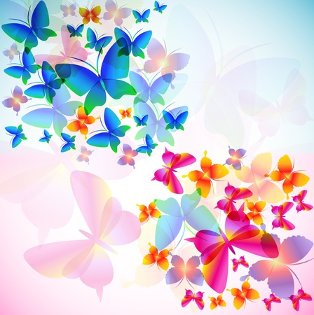Colorful background with butterfly Stock Vector - 9145069