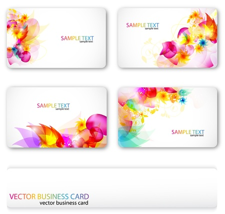 business cards templates: Modern Business-Card Set. Designed in the same style Illustration