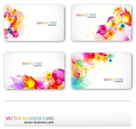 tarjeta de presentacion: Moderno conjunto de tarjeta de presentaci�n. En el mismo estilo