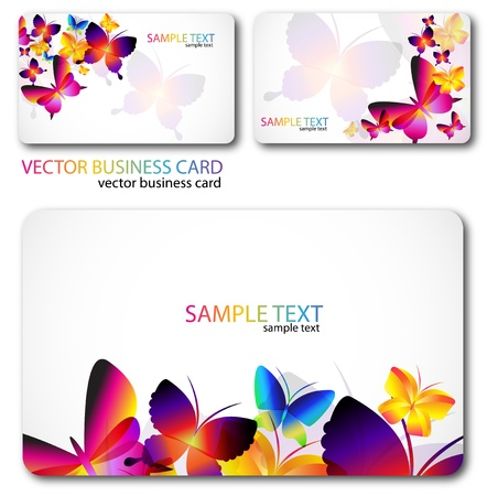 Modern Business-Card Set. Designed in the same style Illustration
