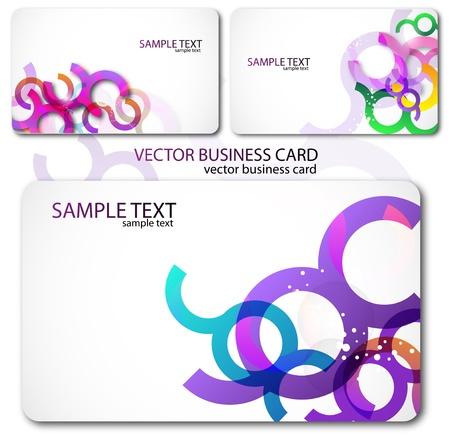 the same: Modern Business-Card Set. Designed in the same style Illustration