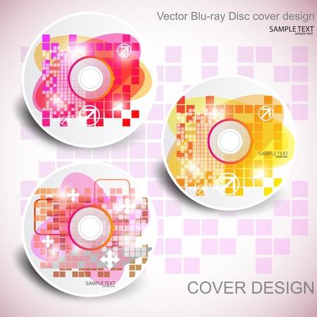 blu ray: CD cover design. Editable templates.